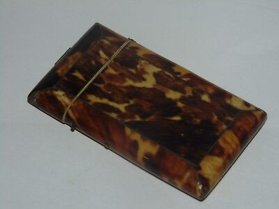 SWEET ANTIQUE c1890 FAUX TORTOISESHELL CALLING CARD CASE in Good Condition