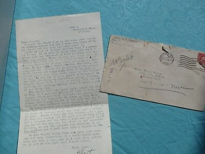 """1926 """"Death,LIFE on the Island"""" Nantucket,Mass signed Elliot Schory letter lot!"""