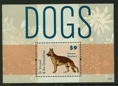St. Vincent #3842 Mint Never Hinged S/Sheet - Dogs