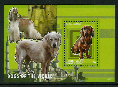 St. Vincent, Union Is Mint Never Hinged S/Sheet - Dogs