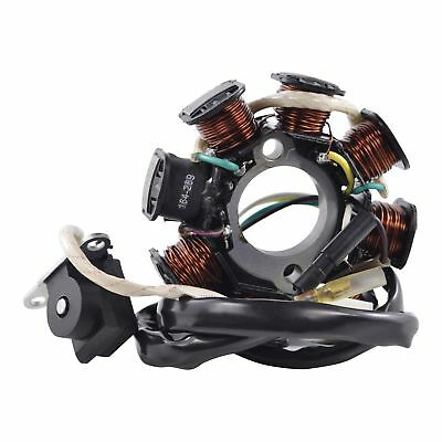 Stator For Scooter Moped Go Kart GY6 50 cc / QMB139 Engines - 8 Coils / 5 Wires