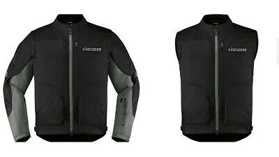 Icon Racing Adult Watchtower Motorcycle Riding Jacket Black S-4XL