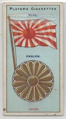 Japan Flag Banner Emblem Nippon 110+ Y/O Ad Trade Card