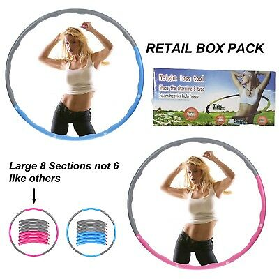 Professional Collapsible Hula Hoop Weighted Fitness Exercise Abs Workout Gym