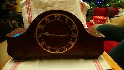 Antique HAC Wuttemberg Mantel Clock For Spares Or Repairs