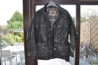 e1ac002a12 VINTAGE 1950's BELSTAFF TRIALMASTER WAXED COTTON MOTORCYCLE JACKET SIZE 42  ...