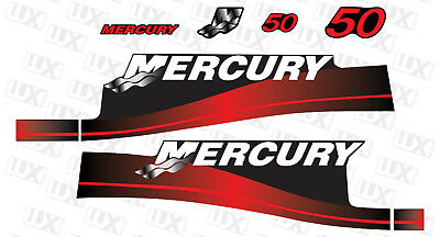 Mercury 50hp Outboard Motor Replacement Decal Kit