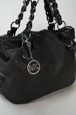 88532520f68e MICHAEL KORS BLACK Grain Leather shoulder Bag - $22.50 | PicClick