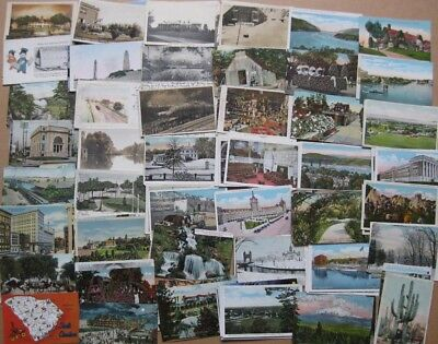 USA United States of America, Job lot of 170x Old Postcards Mostly 1900-30s