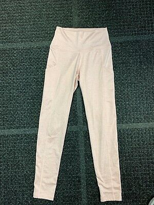 f514a7fe905a4 NEW AERIE PLAY High Waisted Pocket Legging Baby Pink Size SMALL ...
