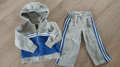 5f4e10633 GAP TODDLER BOYS blue Gray Sweater Sweats Outfit 4t -  12.00