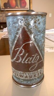 Blatz Christmas Light Blue Flat Top Beer Can No Reserve / Low Open Milwaukee Wi