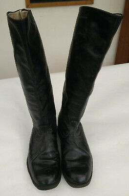 Soviet Russian Officer Military Riding Boots Leather UK size 9.5 Used