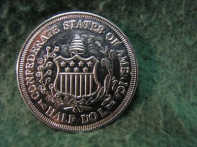 1861 Confederate States of America SILVER Half Dollar  RESTRIKE  50 Cents Coin