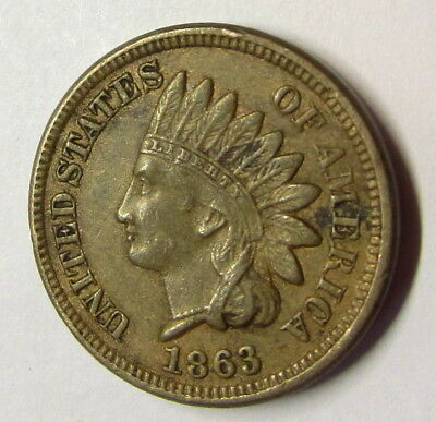 1863 C/n  Indian Penny 4 Diamonds Show