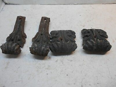 4 ornate antique cast iron claw foot legs bathtub stoves tables and more