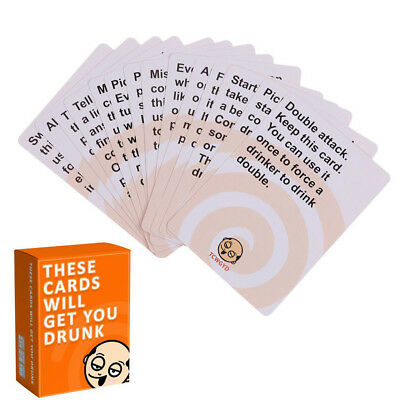 THESE CARDS WILL GET YOU DRUNK Party Game Exploding Cat Cards for Friends
