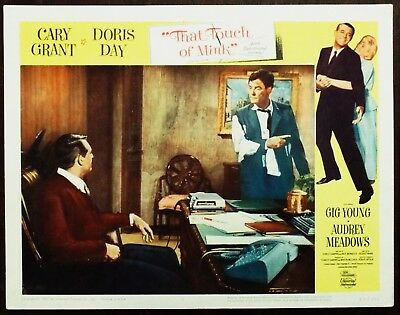 That Touch Of Mink 1962 Cary Grant Gig Young Doris Day Original US Lobby Card