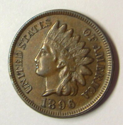 1896  Indian Penny   4 Full Diamonds
