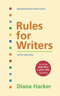 Rules for Writers with 2009 MLA and 2010 APA Updates by Diana Hacker (2010,...