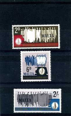 MALTA - 1968 - INTERNATIONAL YEAR FOR HUMAN RIGHTS- SET OF 3 - SG 399 to 401-MNH
