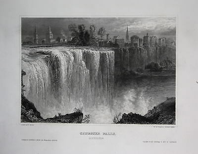 Genessee Falls High Falls New York NY US United States Ansicht view ca. 1840
