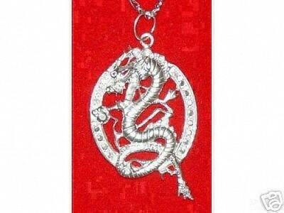 COOL Gothic CELTIC WICCA Dragon Pendant Charm HUGE Jewelry