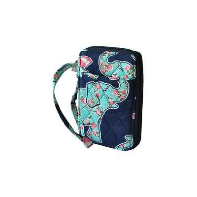Quilted Wristlet ID holder Card Wallet NGIL Free Shipping! NEW Elephant