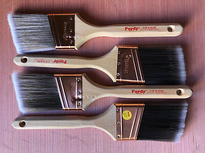 "Lot Of 4 Purdy Angled Paint Brushes : 2 1/2"" Xl-Glide 716341015701"