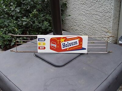 Holsum White Bread Vintage 3 Piece Advertising Metal Door Push Bar Sign