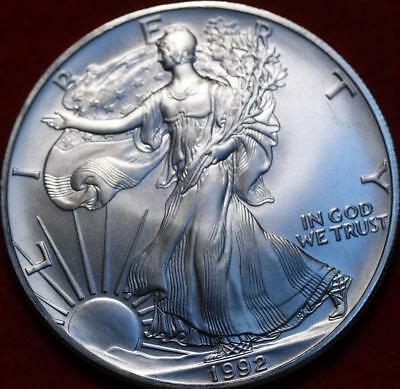 Uncirculated 1992 American Silver Eagle Dollar