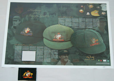 Steve Waugh Hand Signed History Of The Baggy Green Limited Edition Print