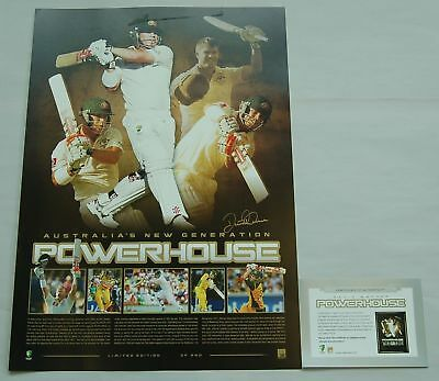 David Warner Hand Signed Powerhouse Print Limited Edition Official Clarke Smith
