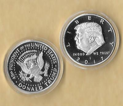 2017 Donald Trump Silver Eagle Coin Make America GREAT Again 45th President GOD