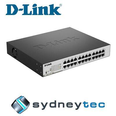 New D-Link DGS-1100-24P 24-Port Gigabit PoE Switch with 12 PoE ports