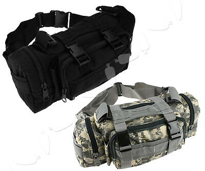 Outdoor Military Tactical Waist Pack Shoulder Molle Camping Hiking Pouch Bag