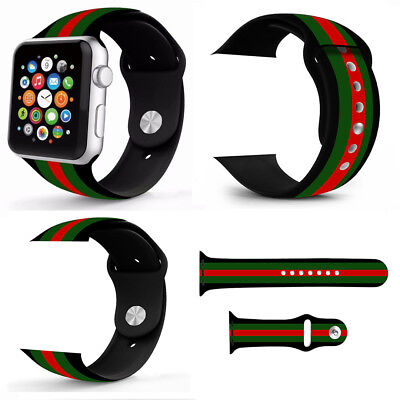 Sport Silicone Wrist Bracelet Band Strap For Apple Watch Series 4 3 2 1 38/44mm