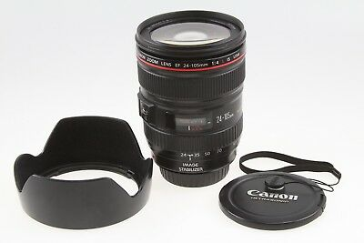 Canon EF 24-105mm f/4L IS USM Lens (0344B002) with Hood EXCELLENT CONDITION!