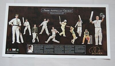 Ricky Ponting Hand Signed The Pride Of Australian Cricket Limited Edition Print