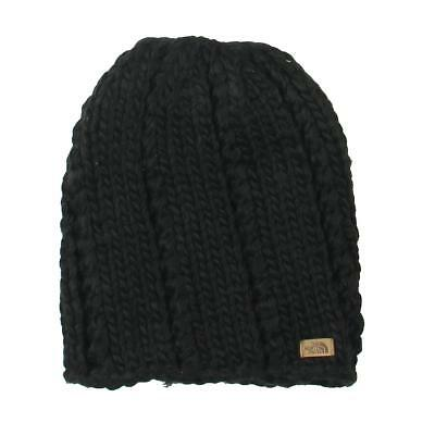 The North Face Womens Black Chunky Knit Winter Beanie Hat O/S BHFO 8761