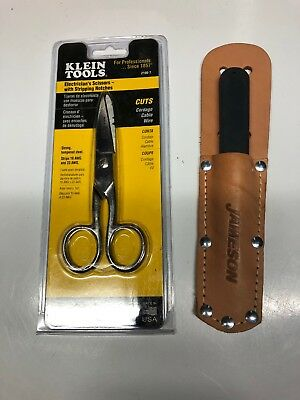 Klein Tools 2100-7 Electrician's Scissors And Jameson Knife