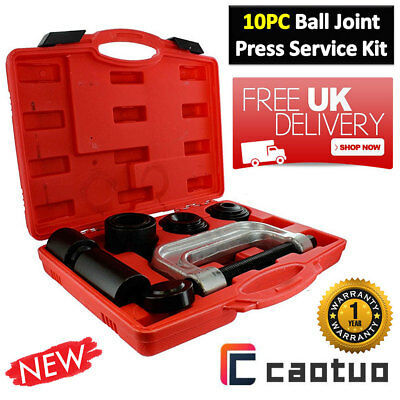 10pc Ball Joint Press Service Kit Remover Separator 4x4s Adaptor 4 in 1Tool MI