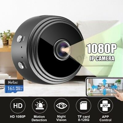 1080P HD Mini Camera WIFI Wireless IP 150° Home Security Night Vision Portable