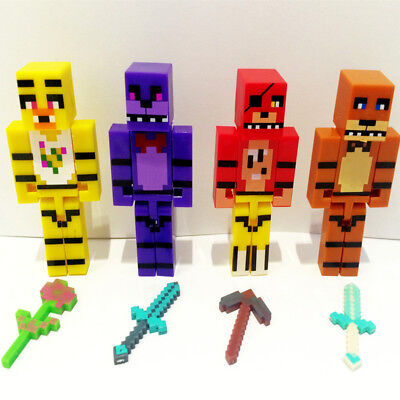 4pcs Model Five Nights At Freddy's Juguetes FNAF Foxy Action Figures Toy US