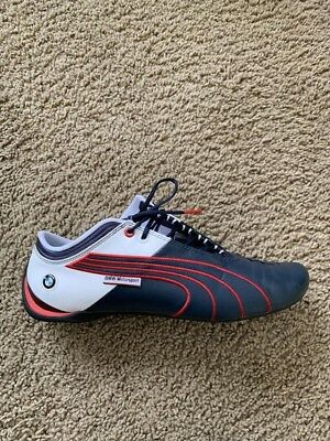 dcfba2c3a092 Men s PUMA BMW Motorsport Branded Leather Size 11 white red blue Light Wear
