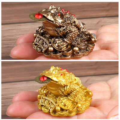 Lucky Chinese Feng Shui Three Legged Money Toad Fortune Frog Home Decor Craft