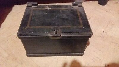Antique 1800's  Cast Iron Stagecoach Strongbox in Original Condition