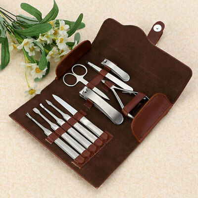 10X Stainless Steel Nail Clipper Trimmer Grooming Kit Manicure Set Pedicure Tool