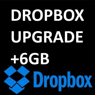 dropbox upgrade space lifetime service +6GB