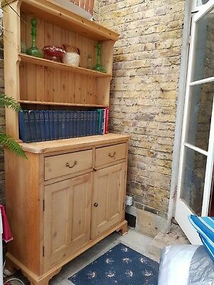 Victorian pine welsh dresser. Restored and French - polished